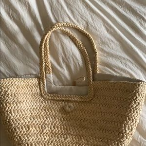 Very large straw tote bag
